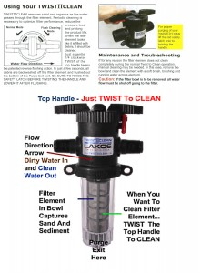 Sediment Filter Cleaning Instructions