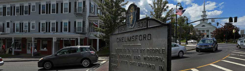 Chelmsford Massachusetts town square