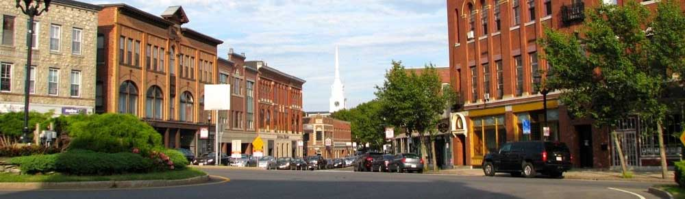Hudson Massachusetts town square