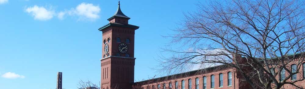 Clock tower in Nashua New Hampshire